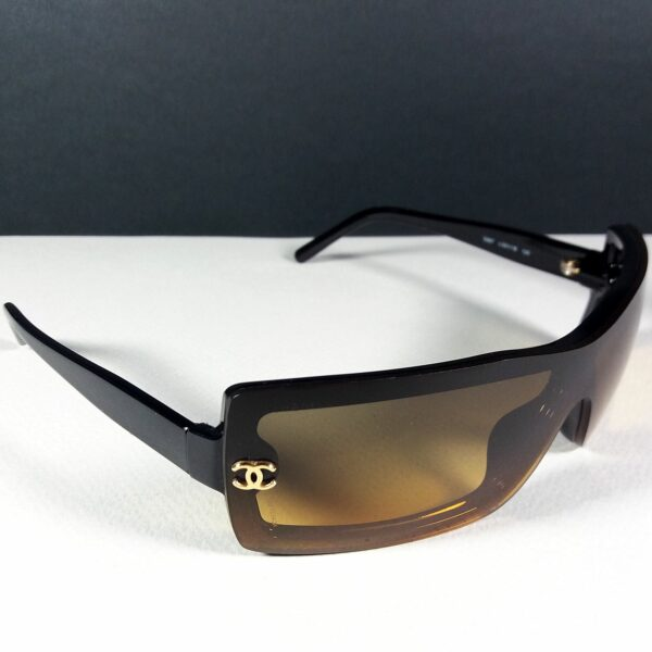 Chanel 5067 c.501 120 CC Logo Black Shield Vintage Designer Women's Sunglasses