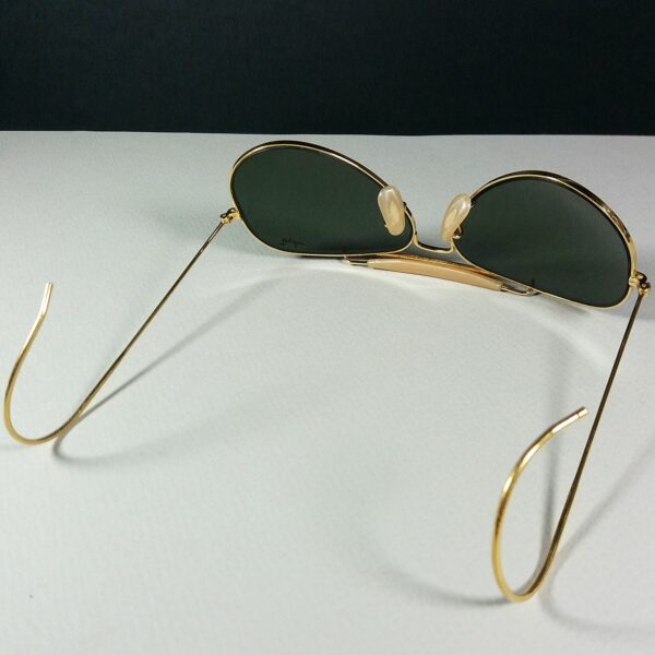 Ray Ban B&L 58-14 Wrap Around Aviator Outdoorsman USA Made Sunglasses w/Case