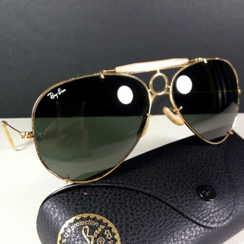 Ray Ban B&L 62-14 Vintage Aviator Outdoorsman Shooter USA Made Sunglasses w/Case