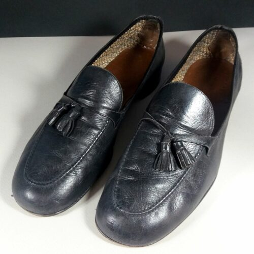 Fratelli Rossetti Extra Soft Black Leather Men's Size 8.5 Slip-ons Loafers Shoes