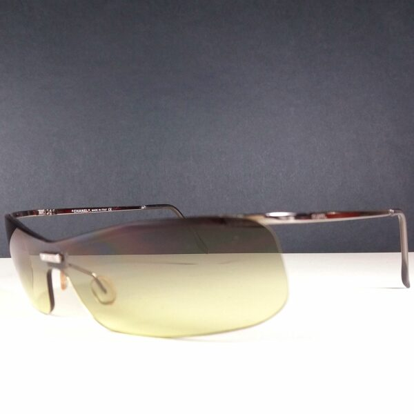 Chanel 4043 c.168/6D 120 Rimless Silver Frame Brown Sunglasses