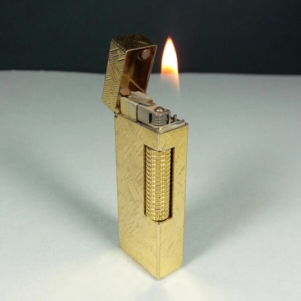 Dunhill Gold Florentine Rollagas Lighter US.RE 24163 Working SWISS Made