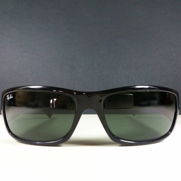 Ray Ban RB 4057 601 Unisex Black Sunglasses Italy w/Green Lenses