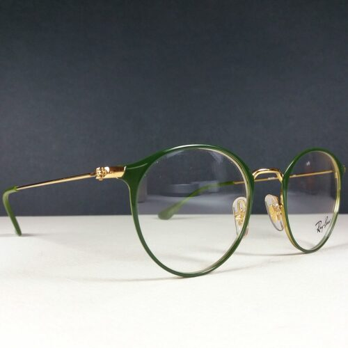 Ray Ban RB 6378 2908 Green/Gold Round Eye Sun Glasses Frame w/Demo Lenses