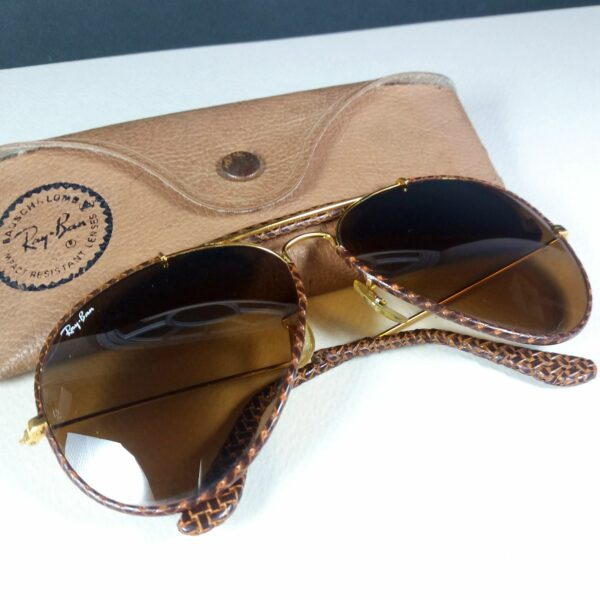 Ray Ban B&L 62-14 Leather Braid Outdoorsman USA Sunglasses w/Case