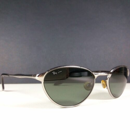 Ray Ban B&L W2843 Silver Frame Green Lenses Bausch and Lomb Sunglasses Made in USA