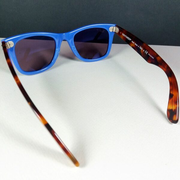 Ray Ban RB 2140 1241/W0 Blue/Tortoise Motif Wayfarer Sunglasses Polarized