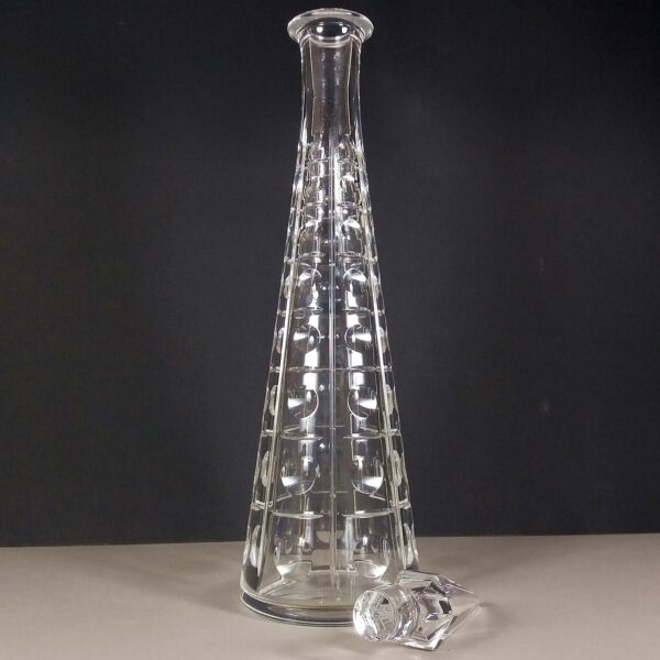 Baccarat Εquinoxe Equinox Vintage Crystal Glass Decanter Carafe Discontinued