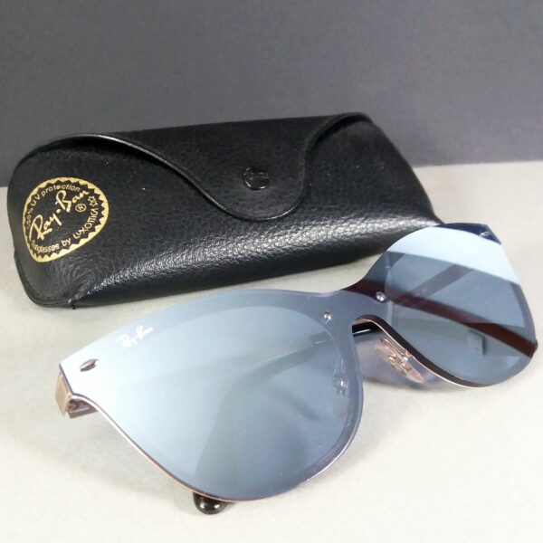 Ray Ban RB 3580-N 140 Shiny Copper Blaze Cat Mirror Sunglasses w/Case