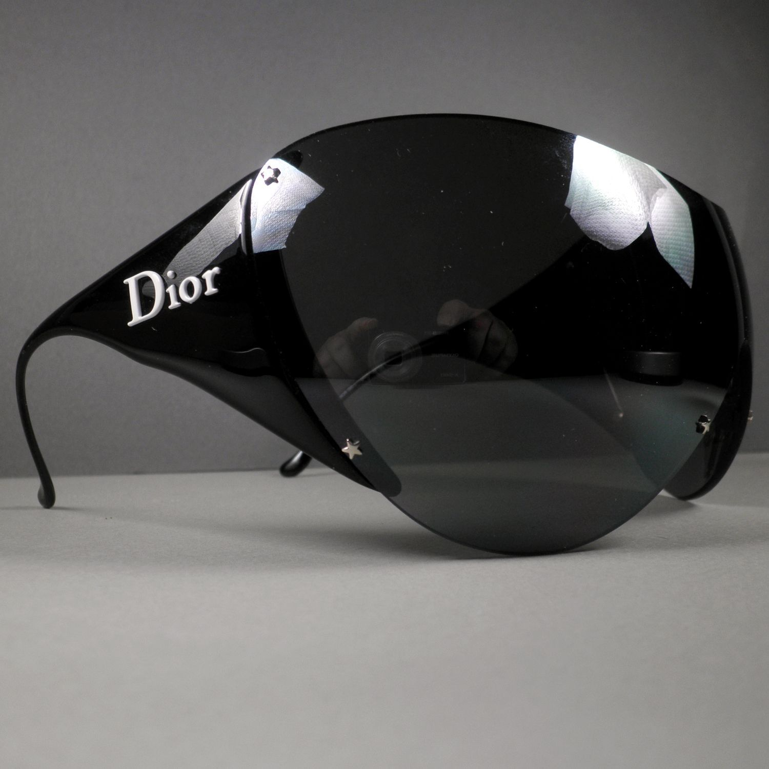 Christian Dior Black Ski 1 9A7 120 Frameless Wrap Galliano Sunglasses