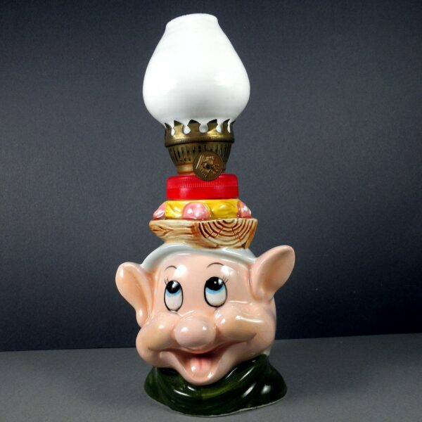 Walt Disney Productions Small Dopey Bedside Oil Lamp 1960 Crown Made in Japan