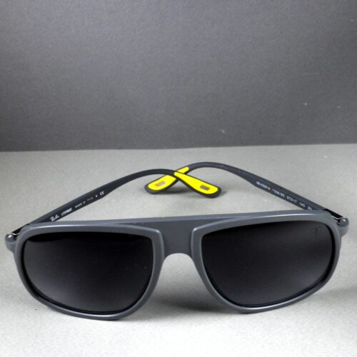 Ray Ban RB 4308-M Liteforce Gray Yellow Scuderia Ferrari Sunglasses w/Case