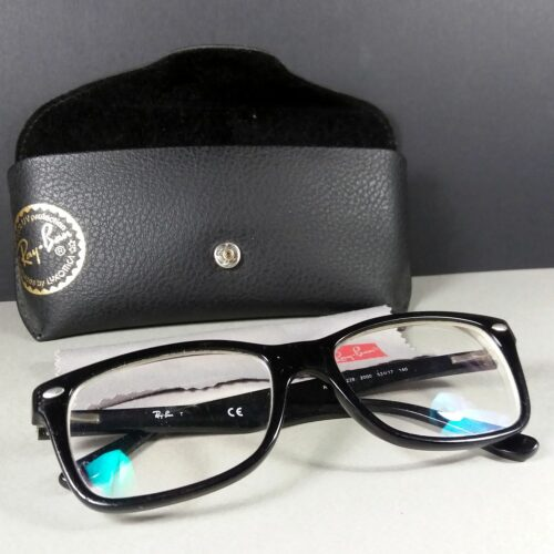 Ray Ban RB 5228 2000 53 17 140 Black Eye Sun Glasses Frames w/Case