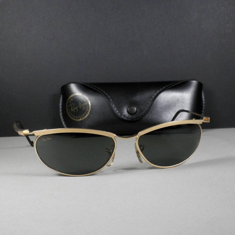 Ray Ban B&L W2568 G15 ORBS Predator Wrap Gold Sunglasses w/Case US Made