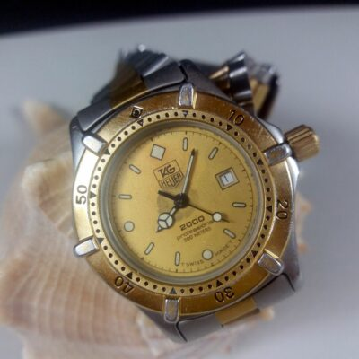TAG Heuer 2000 Professional 200m Steel/Gold Vintage Ladies Wrist Watch