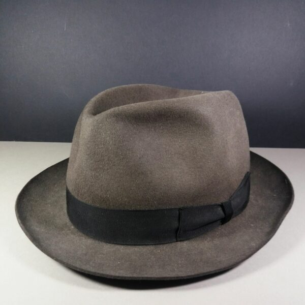 Borsalino Gray Fedora 57-58 US 7 1/8 - 7 1/4 Alessandria Qualita Superiore Men's Hat
