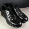 Hogan Black Leather Interactive Men's Size 8 Sneakers Trainers Shoes