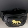 MGM Grand Las Vegas Black & Gold Embroidered Bum Bag Waist Money Belt Never Used