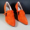 PREEN Thornton Bregazzi Red Coral Suede w/Gold HW Nolan Pumps Size 39 in Box