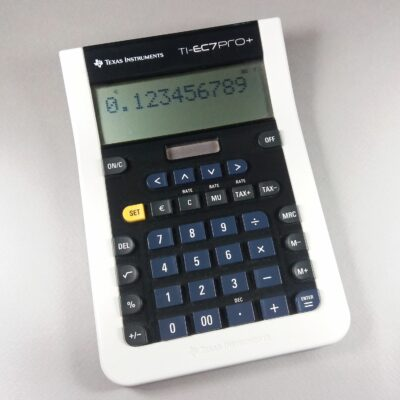 Texas Instruments TI-EC7 PRO+ Black/White Scientific Calculator