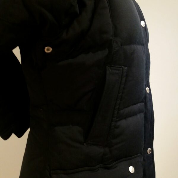 Equiline Pro Riders Dk Blue Hooded Women's Cotton Blend Down Puffer Coat Size S