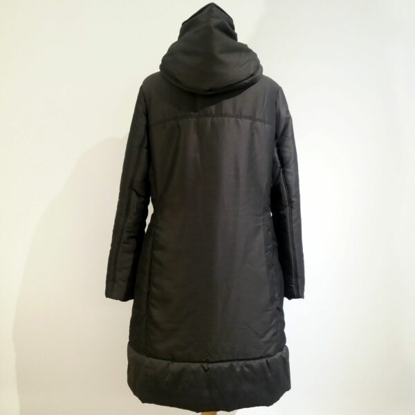 Lanvin Hiver 2015 Slate Hooded Puffer Horn Toggle Fastening Coat Size T.40