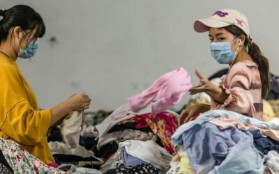 China has millions of tons of discarded clothing