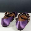 Marni Purple Satin Leather Buckle Size 39 Mary Jane Ballet Flats