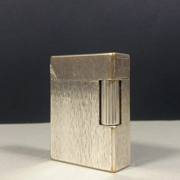 S.T. Dupont Paris Silver Plated Brushed motif Ligne 1 Small Gas Lighter