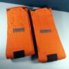 Hermes Paris Orange XL Logos Horse Leg Stable Wraps Equestrian Bandages