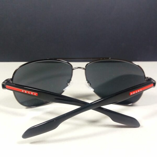 PRADA Unisex Red/Black Pilot Mirror Sunglasses SPS 53P 62-14 5AV-5L0 135 3N
