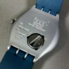 Swatch IRONY Blue/Silver Aluminium Day/Date Waterproof Watch Swiss Made