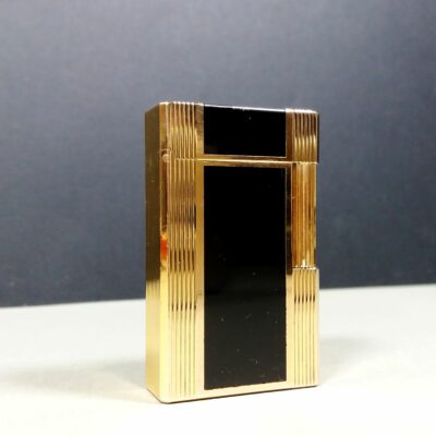 S.T. Dupont Vintage Black Laque de Chine Gold Ligne 1 Large Lighter