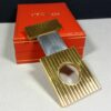 S.T. Dupont Paris Godrons Gold Plated Cigar Cutter w/Case Authenticity Card Box