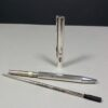 S.T. Dupont Classique Silver Ribbed Ballpoint Pen w/COA & Booklet