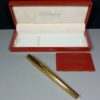 S.T. Dupont Olympio Plac OR Godrons Fountain Pen 18ct 750 M Nib in Box 480203M