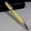 Montegrappa Parchment Symphony 1912 Yellow Celluloid/Silver Ball Point Pen