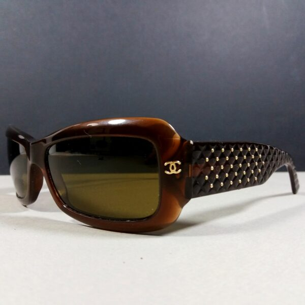 Chanel 5099 c.538/73 135 CC Logo Brown Studded Vintage Sunglasses