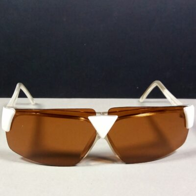 Courreges Paris 9269-3 White/Clear Vintage Futuristic Ladies Sunglasses