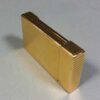 S.T. Dupont Slim Small Gold Plated Ligne 2 Line Rare Gas Lighter Open Engraver