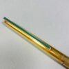 S.T. Dupont Classique Gold w/Green Lacquer Detail Slim Ball point Pen