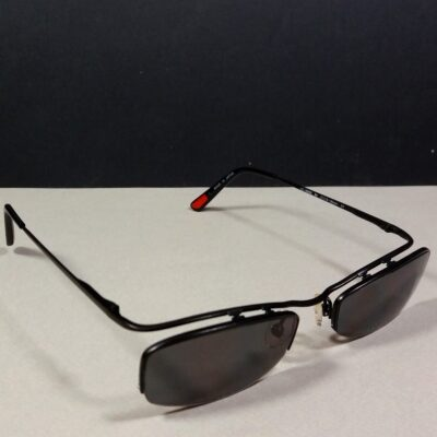 Hugo Boss HG 15566S 135 Black Rimless Minimal Sunglasses Japan Made