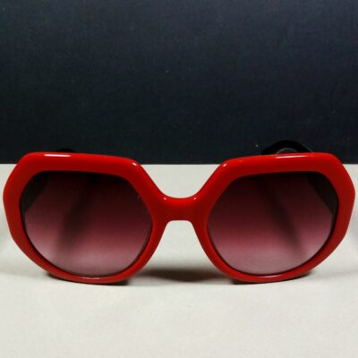 Longchamp LO 655S Red Logos Designer Ladies Oversized Sunglasses