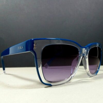 FURLA SFU069 Blue/Clear Purple Gradient Lenses Unisex Designer Sunglasses