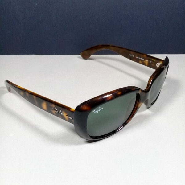 Ray Ban RB 4101 JACKIE OHH Brown w/Green Lenses Sunglasses